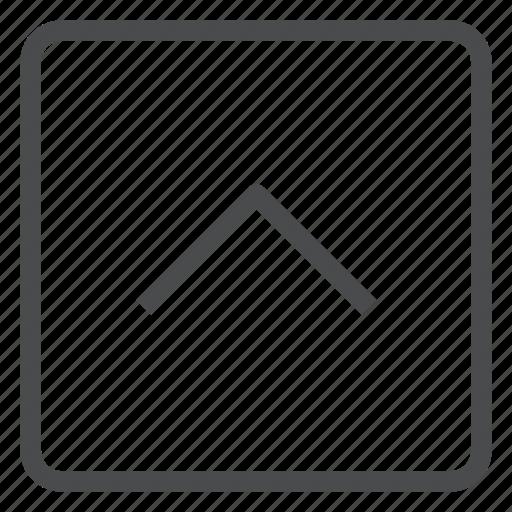 arrow, chevron, navigation, square, up icon