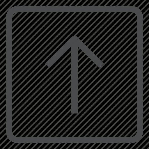 arrow, move, navigation, square, up icon
