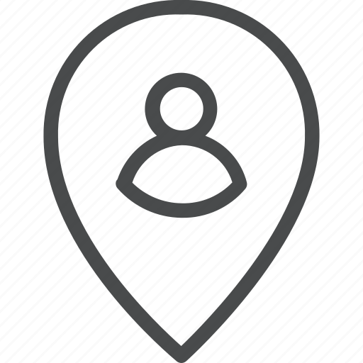 gps, location, marker, person, pin, profile, user icon