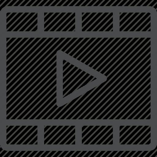 clip, film, media, multimedia, play, video, watch icon