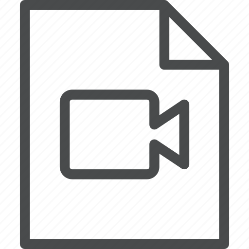 document, file, format, movie, video icon
