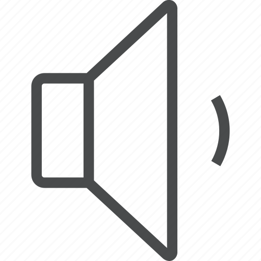 audio, control, low, quiet, sound, speaker, volume icon
