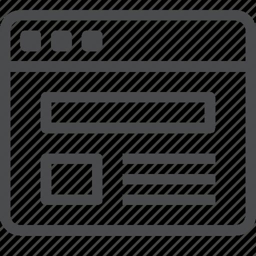 browser, design, internet, layout, web, webpage, website icon