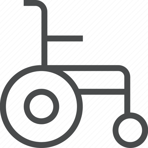 chair, disability, disabled, handicap, handicapped, wheelchair icon
