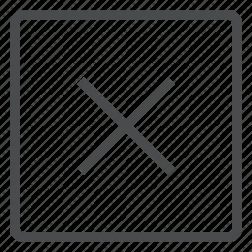 close, delete, remove, square, x icon