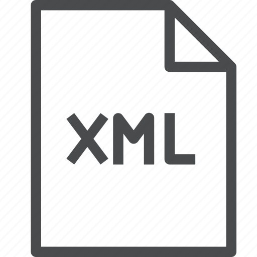 extension, file, format, xml icon