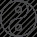 fung shui, harmony, peace, sign, yang, yin icon