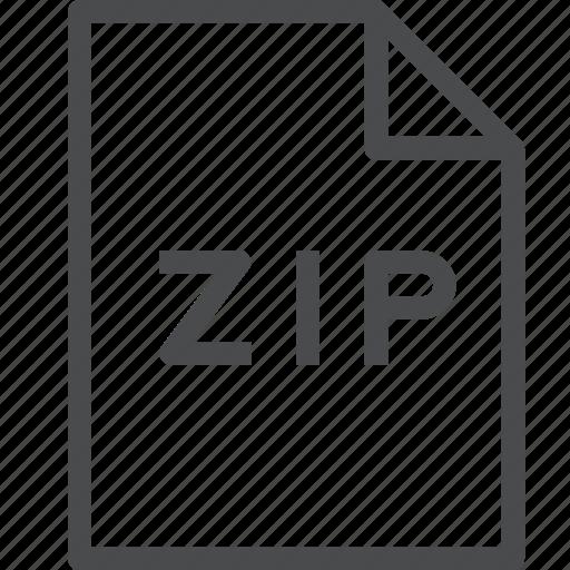 compress, document, file, zip icon