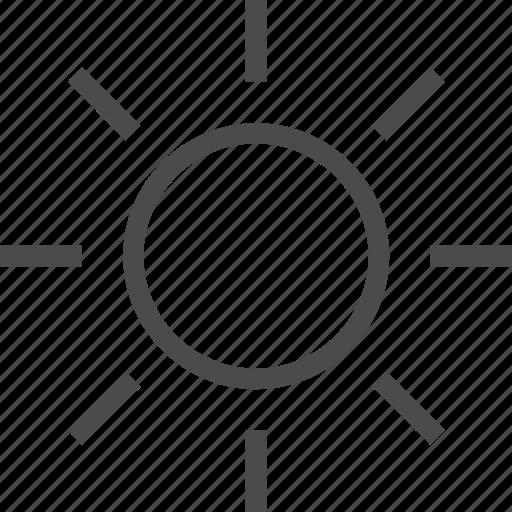 bright, light, sun icon