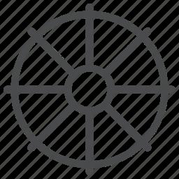 buddhism, wheel icon