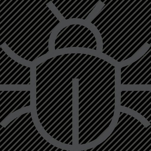 beetle, bug, virus icon