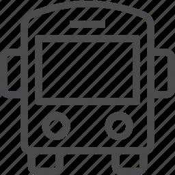 bus, transportation icon