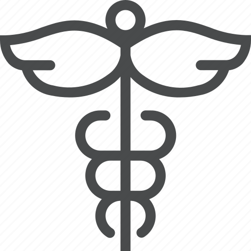 caduceus, health, medical, medicine icon