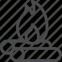 camp, campfire, fire icon