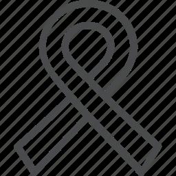 cancer, ribbon icon