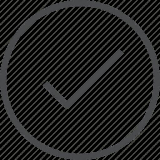 checkmark, circle, complete, verified icon