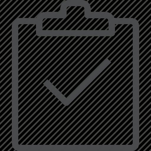 checkmark, clipboard, complete, list, todo, verified icon