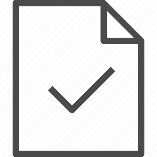 checkmark, document, verified icon