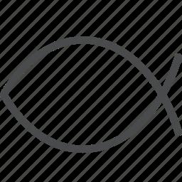 christianity, fish icon