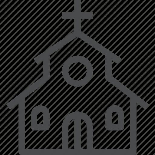 church, pray, religion, temple icon