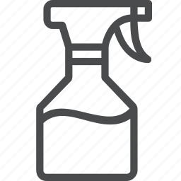 clean, cleaner, housekeeping, spray icon