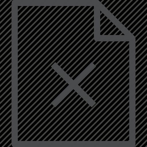 close, document, error, file, remove icon