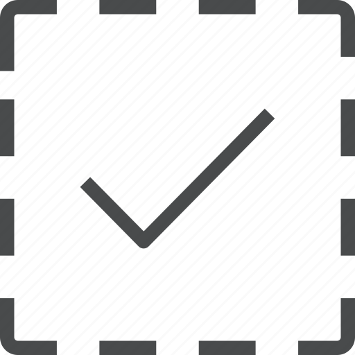 checkmarked, complete, selection icon