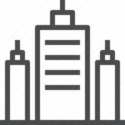 building, business, city, corporate, corporation, skyline, skyscraper icon