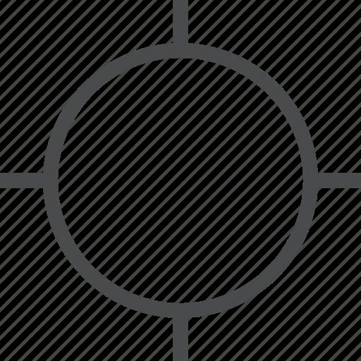 aim, crosshair, focus icon