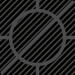 crosshair, off icon