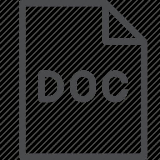 doc, file icon