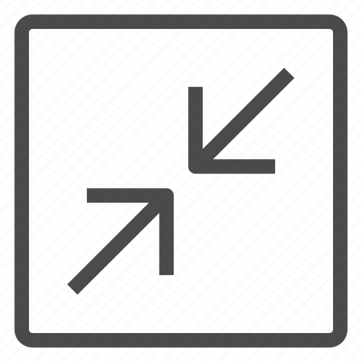 decrease, size icon
