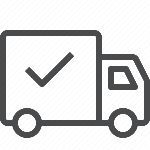 delivered, delivery, shipped, shipping icon