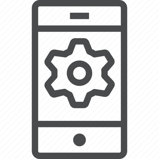 device, mobile, phone, settings icon