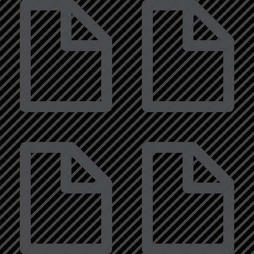 document, files, grid icon