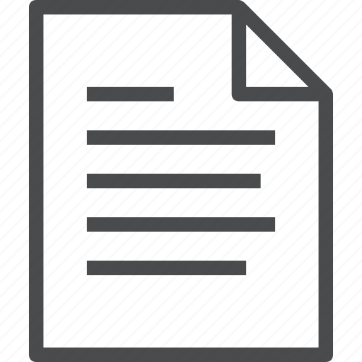 document, file, lines, paper icon