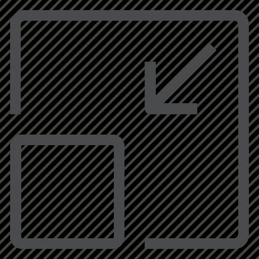 decrease, downsize, minimize, scale icon