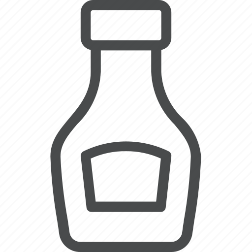 bottle, condiment, dressing, eat, food icon