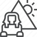 architecture, egypt, landmark, monument, pyramid, pyramids icon