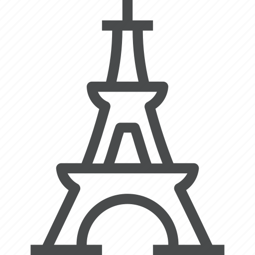 architecture, eiffel, landmark, monument, paris, tower icon