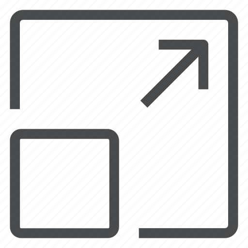 enlarge, expand, fullscreen, maximize, resize icon