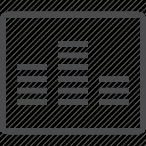 equalizer, levels, music, volume icon