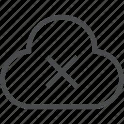 cloud, error, internet, missing icon
