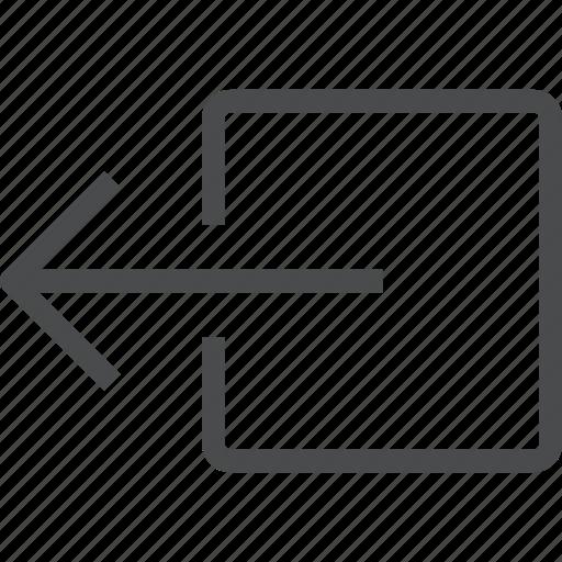 export, left, send, shift icon