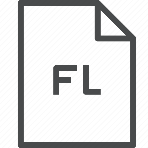extension, file, files, fl, flash icon
