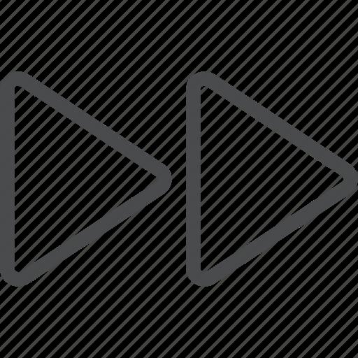 arrows, fast, forward, next icon