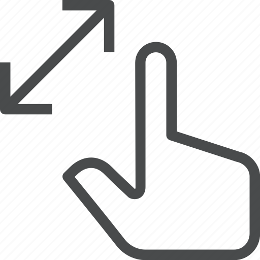 finger, fingers, gesture, swipe, touch, zoom icon