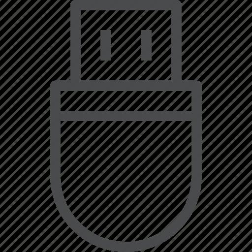data, drive, flash, storage, usb icon