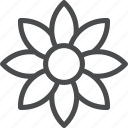 eco, environment, flower, green, nature, petals icon