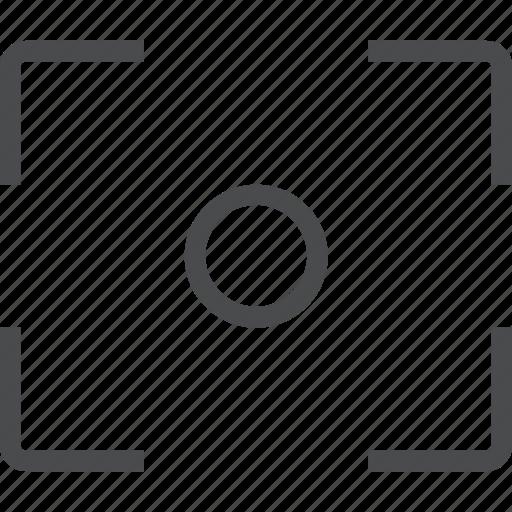 aim, bullseye, crosshair, focus icon